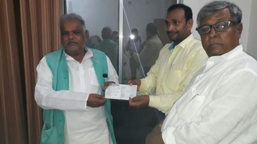 Donesion for Chief Minister's Relief fund
